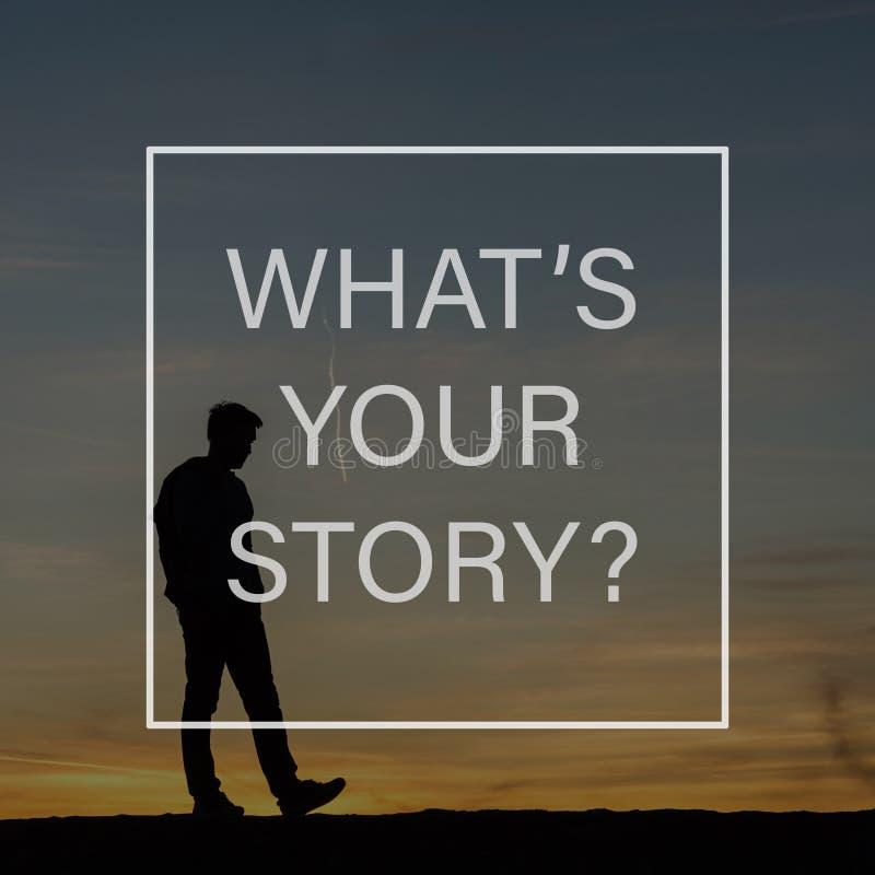 什么是您的故事标志 免版税库存照片