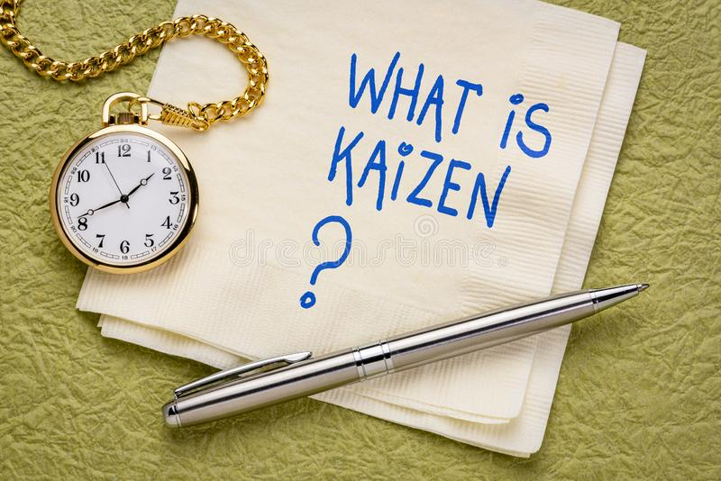 什么是Kaizen 库存照片