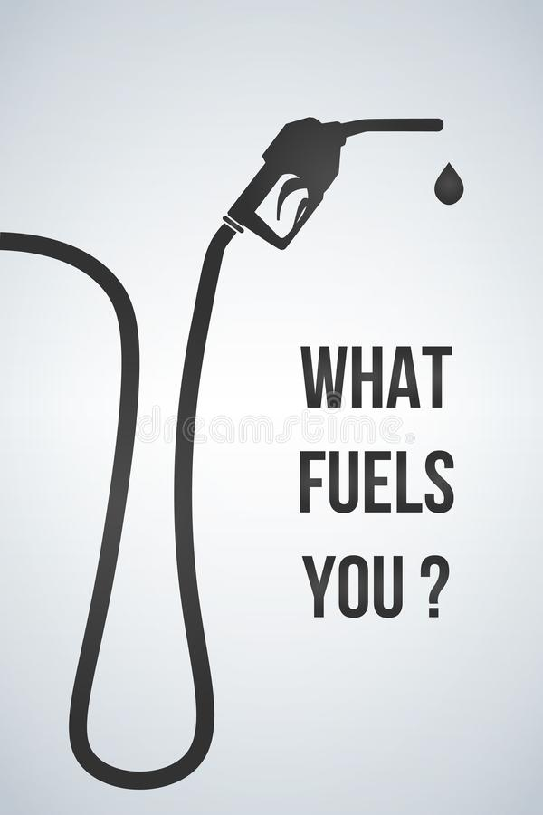 什么燃料您横幅 加油泵喷管标志 加油站象 平的设计样式 也corel凹道例证向量 向量例证