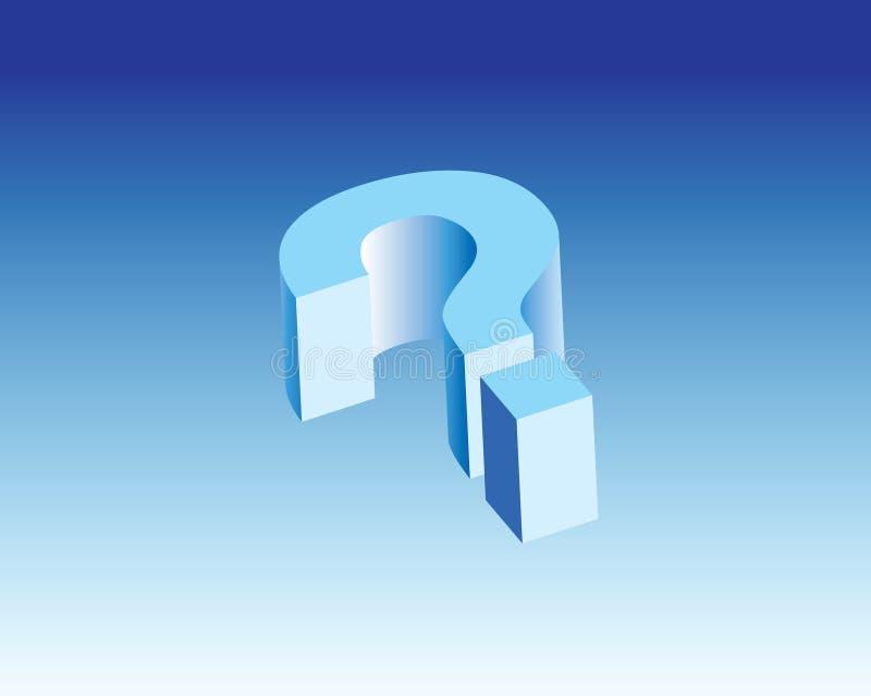 什么问题象& 3d标志 免版税库存图片