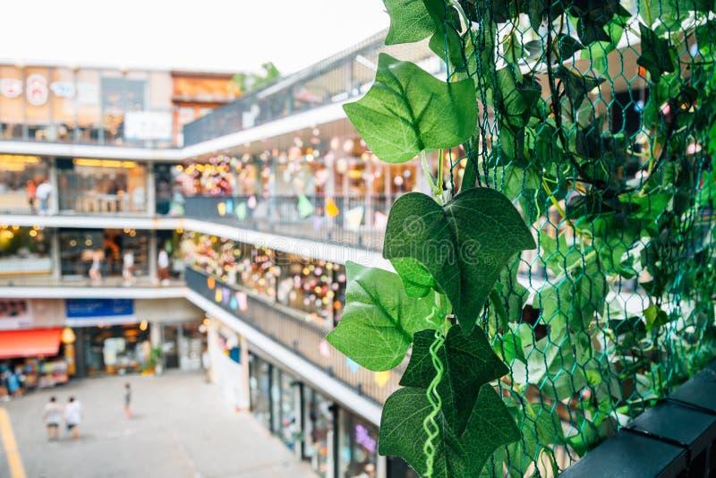 仁寺洞Ssamzigil文化商店地区在汉城,韩国 图库摄影