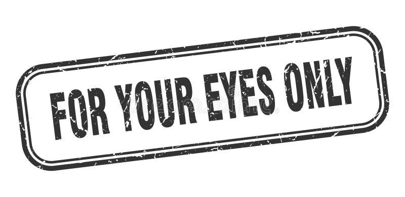 仅对您的眼睛邮票 库存例证