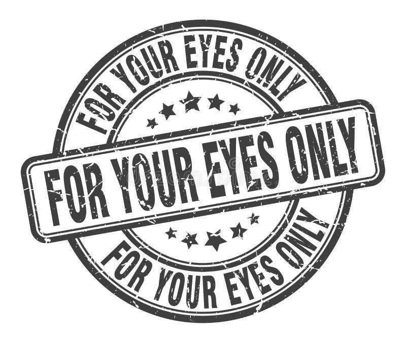 仅对您的眼睛邮票 皇族释放例证