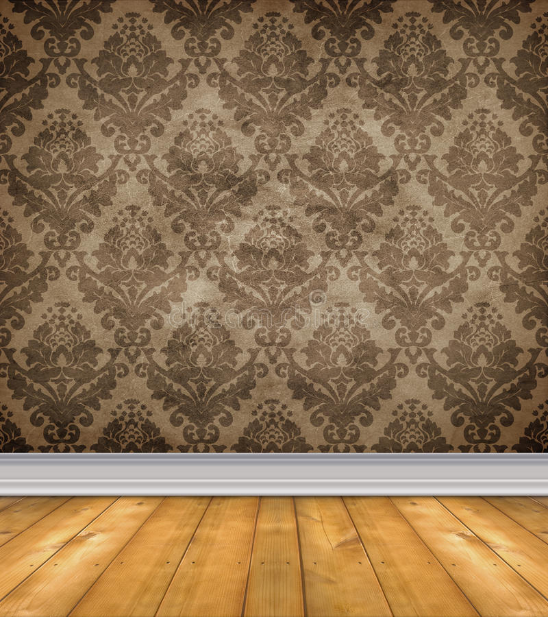 仅有的锦缎空的楼层空间 库存照片