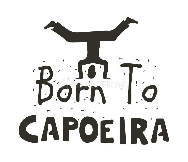 仅Capoeira勇敢的海报的 皇族释放例证