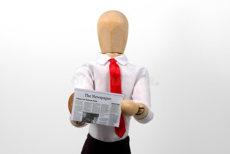 今天的新闻 免版税库存照片