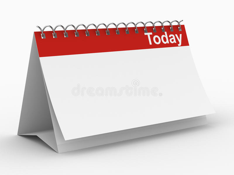 今天背景日历白色 皇族释放例证