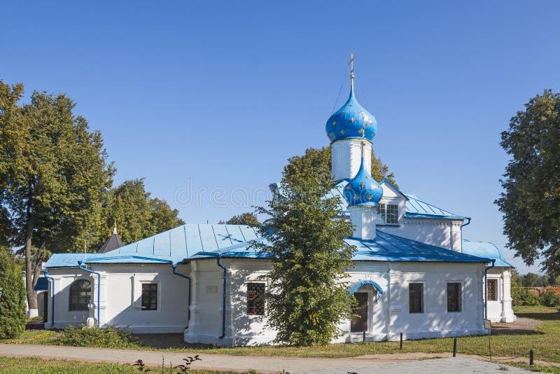 介绍教会  Moskovskaya街道, Pereslavl-Zalessky,雅罗斯拉夫尔市地区 莫斯科 图库摄影