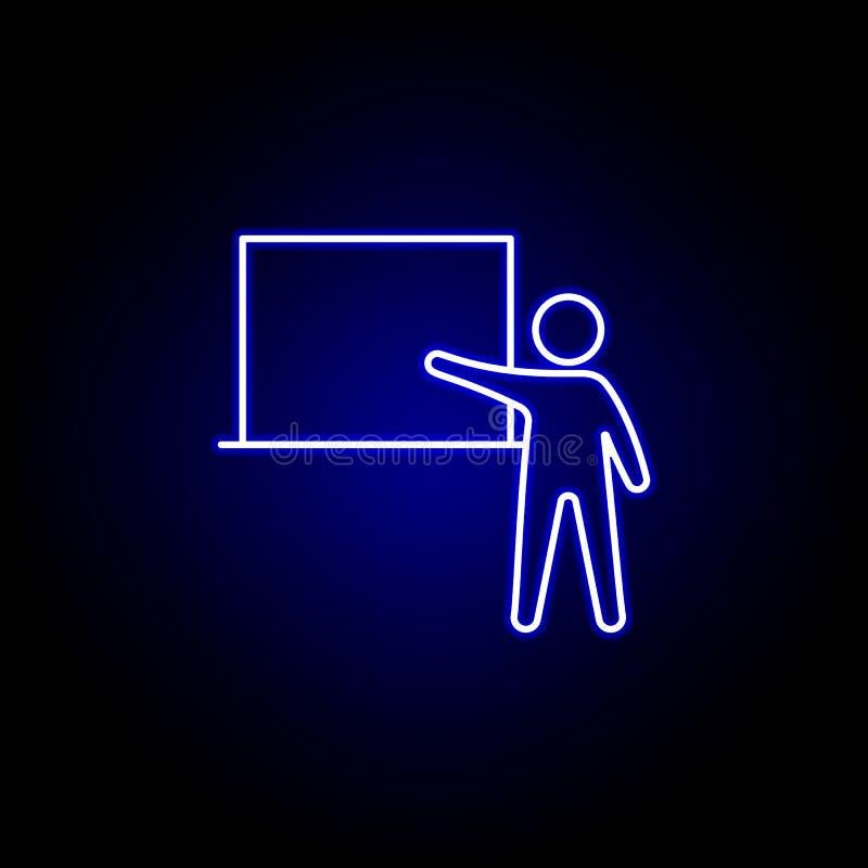 介绍,商人象 人力资源例证的元素在霓虹样式象的 标志和标志可以为网使用 向量例证