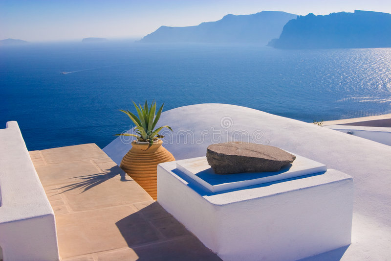 仍然希腊生活santorini 免版税库存照片