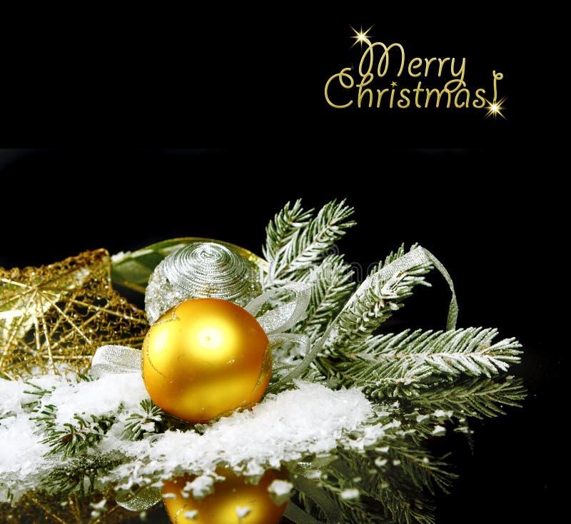 仍然背景黑色圣诞节寿命 免版税库存照片