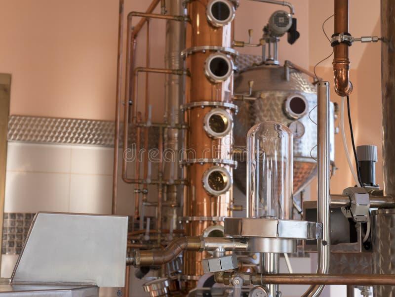 仍然铜蒸馏器 图库摄影