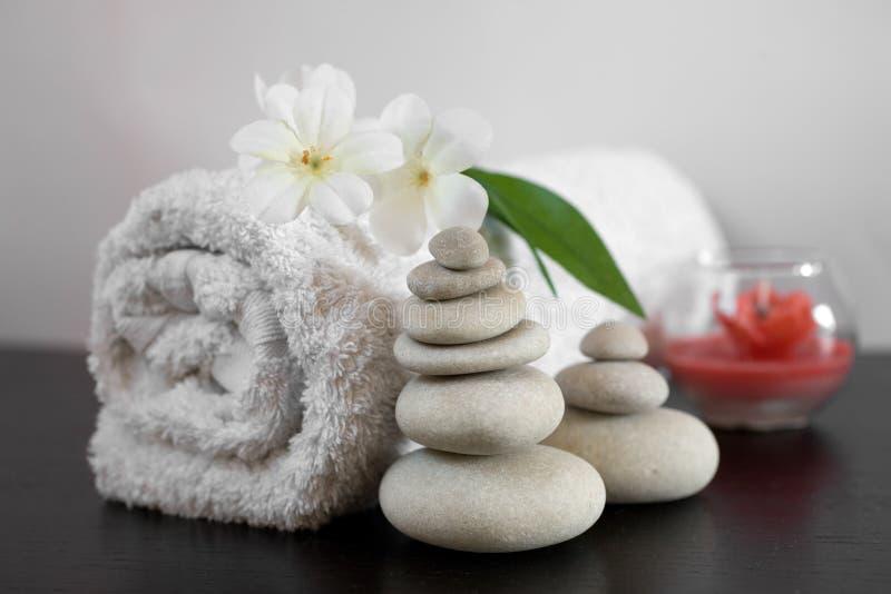 仍然aromatherapy生活温泉 免版税库存图片