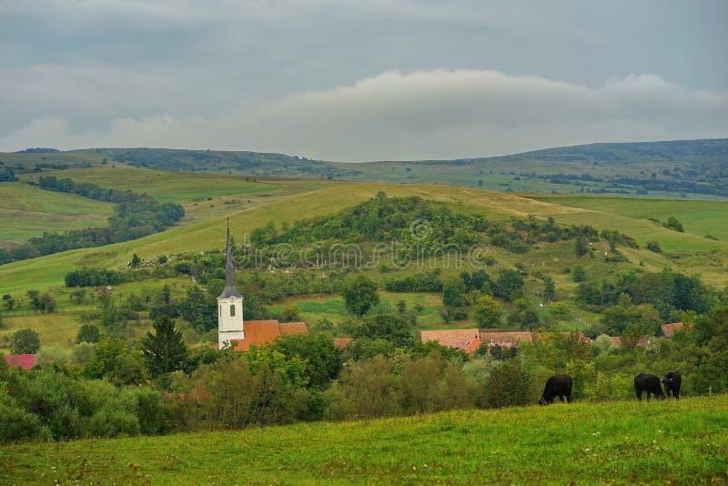 从一个小村庄Daia的风景 库存照片