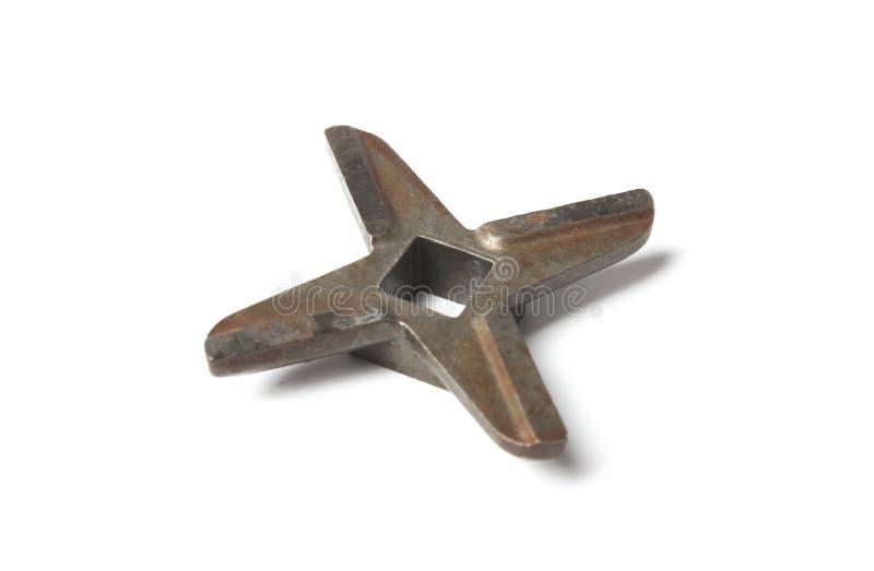从一台手工研磨机的刀子 免版税图库摄影