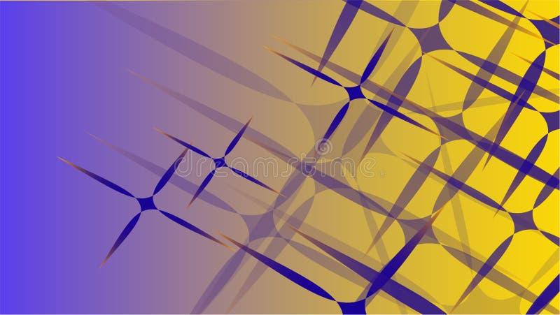 从一级风宇宙被雕刻的星,线各种各样的形状透明蓝色抽象容量时兴的魔术的纹理  向量例证