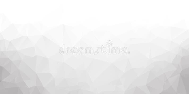 ?? 从三角和多角形的背景 被弄皱的纸片 皇族释放例证