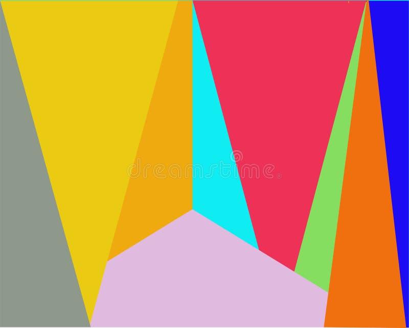从三角和长方形的颜色背景 皇族释放例证