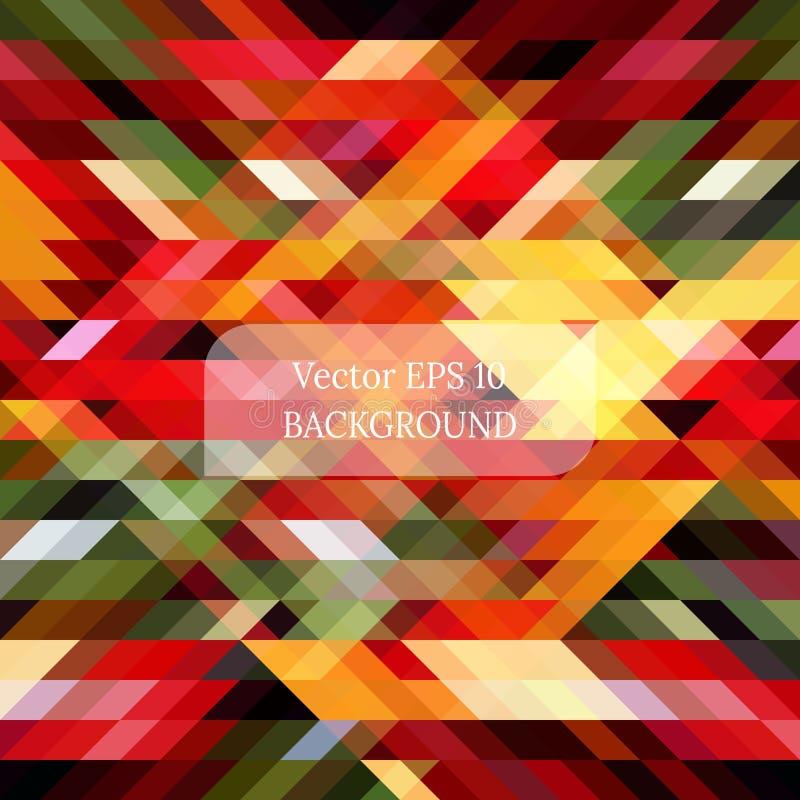 从三角的五颜六色的抽象背景 库存例证