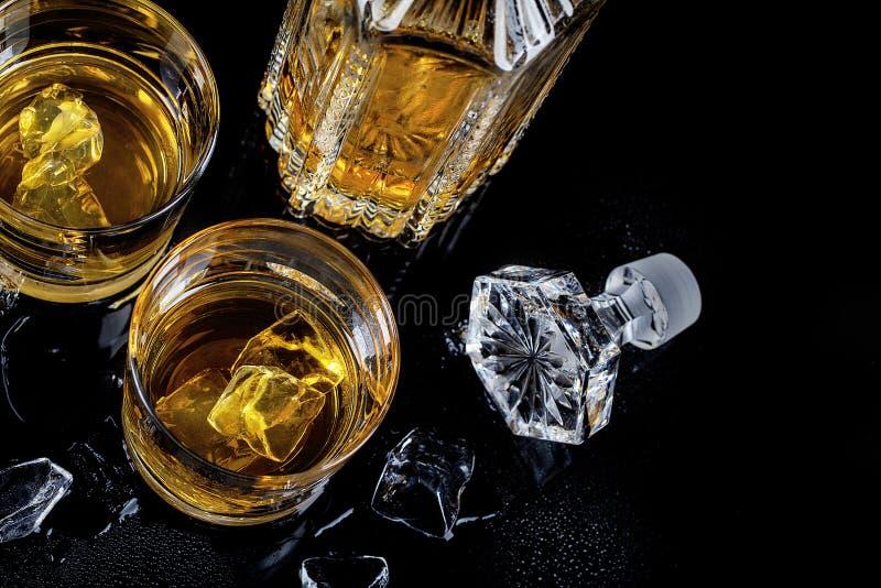从上到下看苏格兰威士忌 免版税库存图片