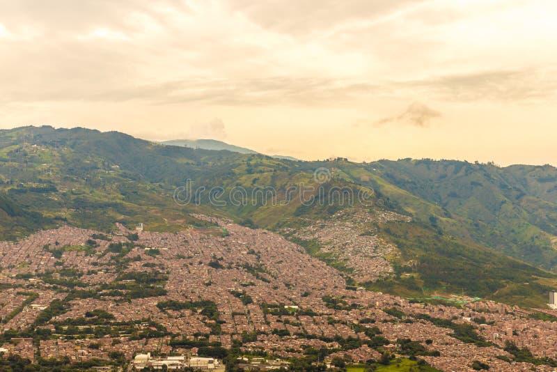 从上流的一个看法在麦德林哥伦比亚 免版税图库摄影