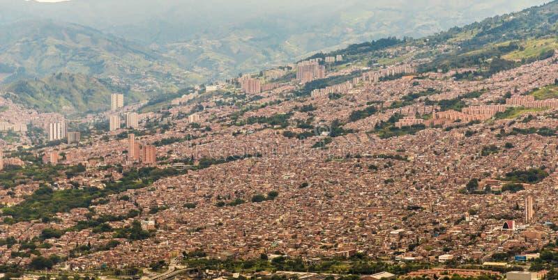 从上流的一个看法在麦德林哥伦比亚 免版税库存图片