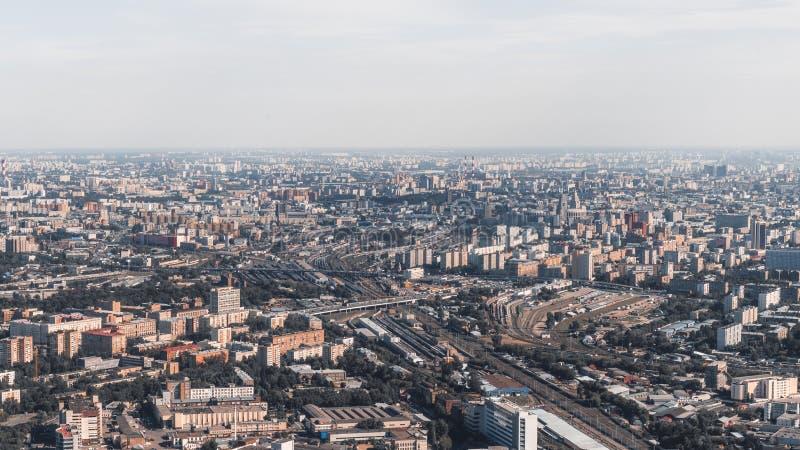 从上面射击都市风景 免版税图库摄影