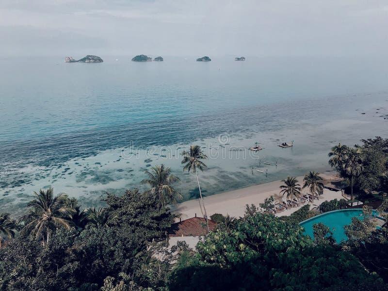 从上面的看法在酸值苏梅岛,泰国 免版税库存图片