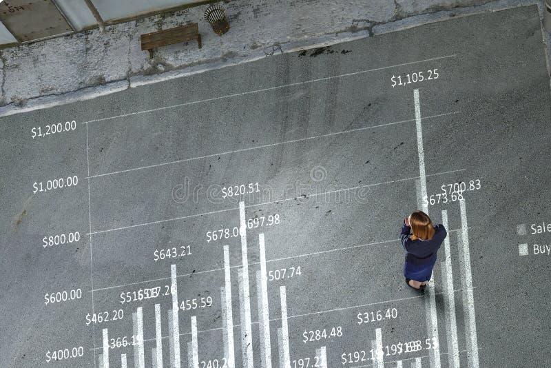 从上面的观察事务 免版税库存图片