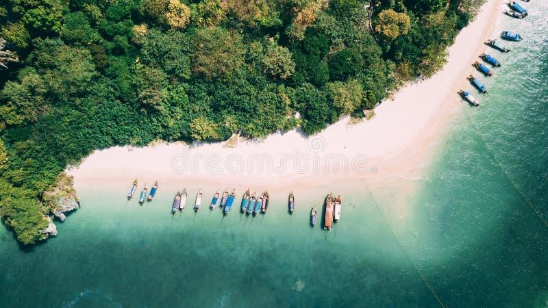 从上面的Phra Nang海滩 免版税库存照片