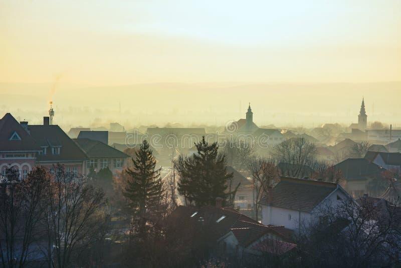 从上面被看见的阿尔巴尤利亚镇 免版税图库摄影