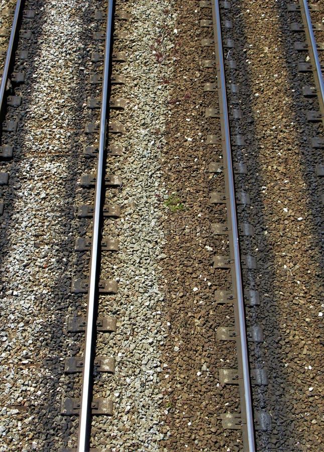 从上面被观看的铁轨 图库摄影
