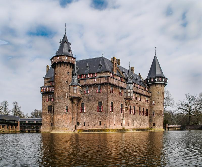 从中间年龄的古老城堡 库存图片