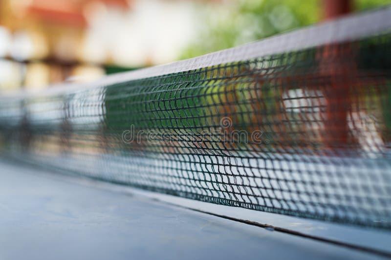 从乒乓球体育的网 免版税库存图片