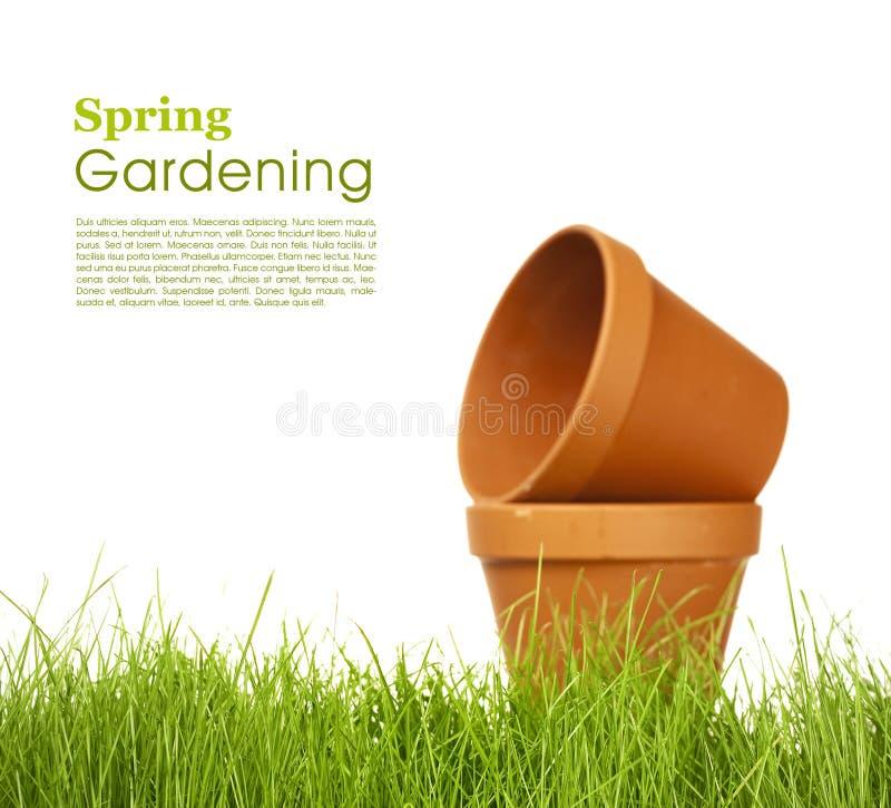 从事园艺的春天 免版税库存照片