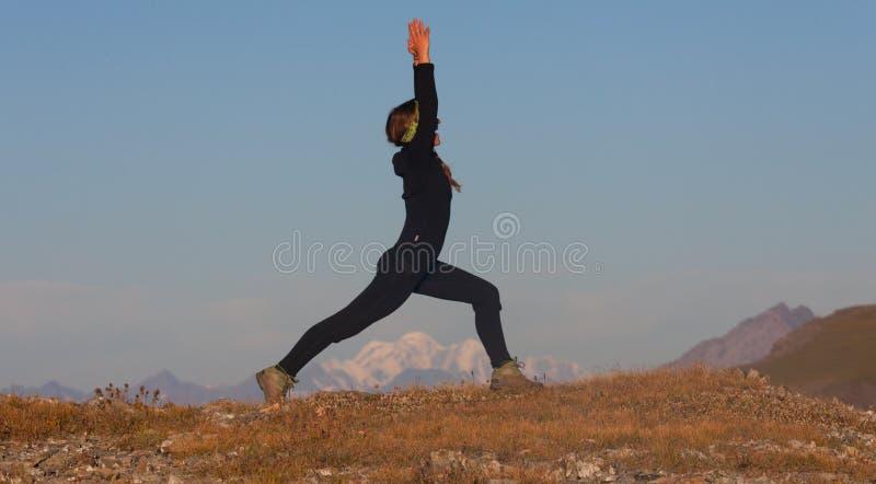从事的女孩瑜伽 图库摄影