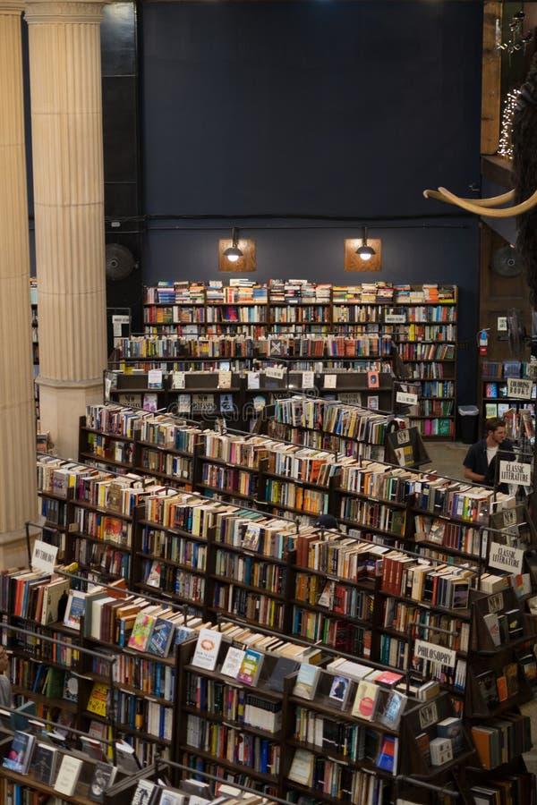 从二楼的看法在最后书店 库存照片