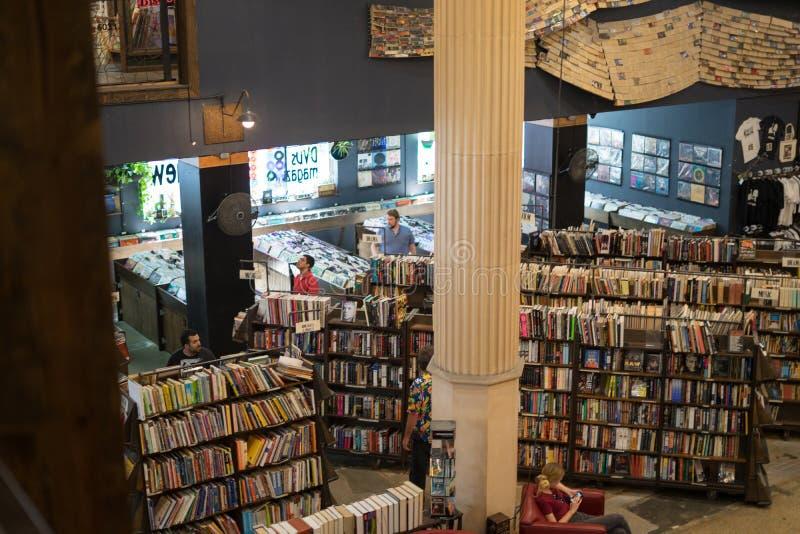 从二楼的看法在最后书店 库存图片