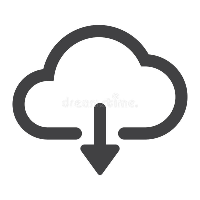 从云彩纵的沟纹象、网和机动性的下载 库存例证