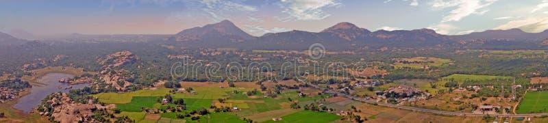 从京格埃埃堡垒,Thiruvannamalai的全景在泰米尔・那杜印度 库存照片