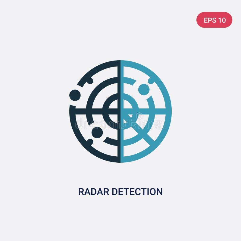 从人技能概念的两种颜色的雷达探测传染媒介象 被隔绝的蓝色雷达探测传染媒介标志标志可以是用途为 皇族释放例证