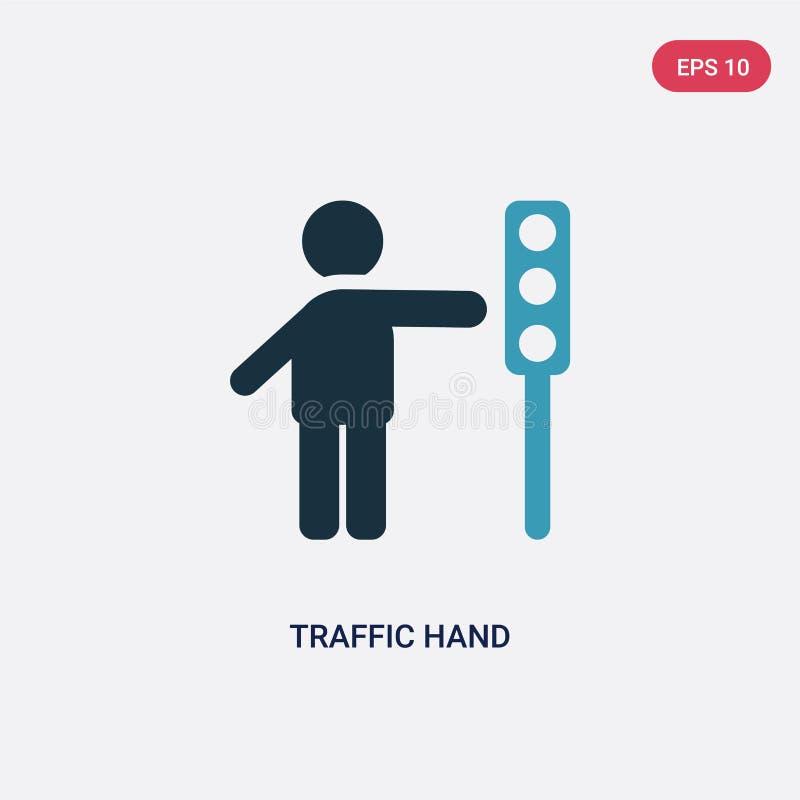 从人概念的两种颜色的交通手传染媒介象 被隔绝的蓝色交通手传染媒介标志标志可以是网的,机动性用途 皇族释放例证