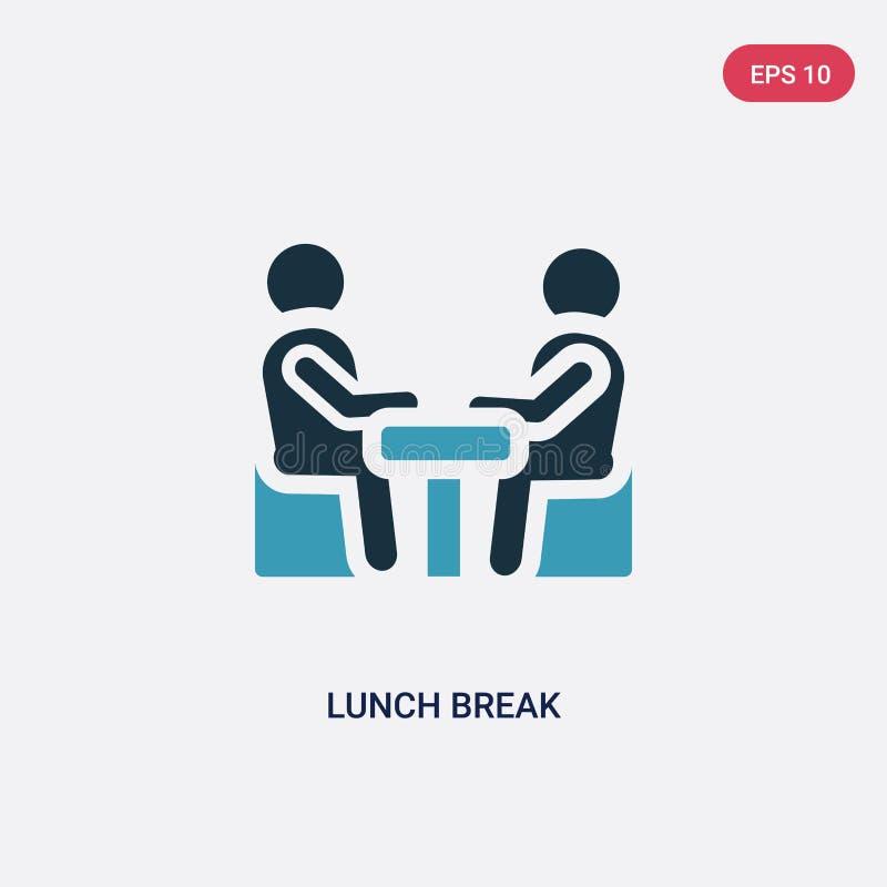从人概念的两种颜色的午休时间传染媒介象 被隔绝的蓝色午休时间传染媒介标志标志可以是网的用途,流动和 皇族释放例证
