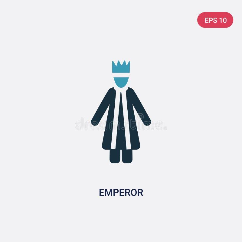 从人概念的两种颜色的皇帝传染媒介象 被隔绝的蓝色皇帝传染媒介标志标志可以是网、机动性和商标的用途 皇族释放例证