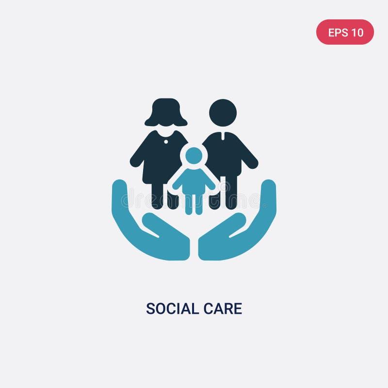 从人概念的两种颜色的社会关心传染媒介象 被隔绝的蓝色社会关心传染媒介标志标志可以是网的用途,流动和 皇族释放例证