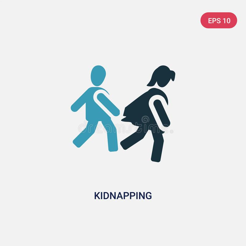 从人概念的两种颜色的绑架的传染媒介象 被隔绝的蓝色绑架的传染媒介标志标志可以是网的用途,流动和 库存例证
