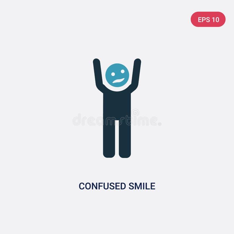 从人概念的两种颜色的迷茫的微笑传染媒介象 被隔绝的蓝色迷茫的微笑传染媒介标志标志可以是网的用途, 向量例证