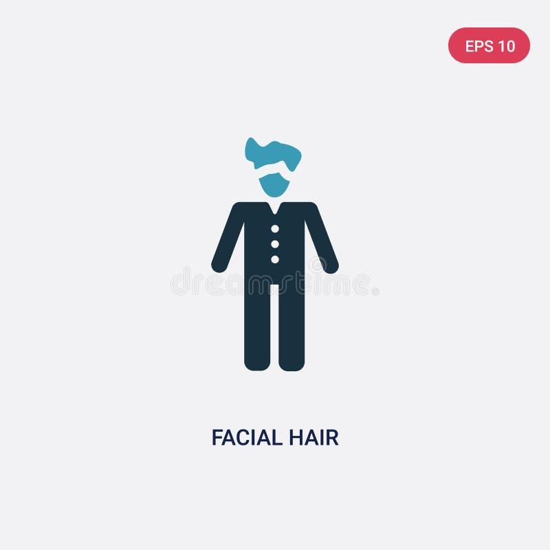 从人概念的两种颜色的面毛传染媒介象 被隔绝的蓝色面毛传染媒介标志标志可以是网的用途,流动和 库存例证