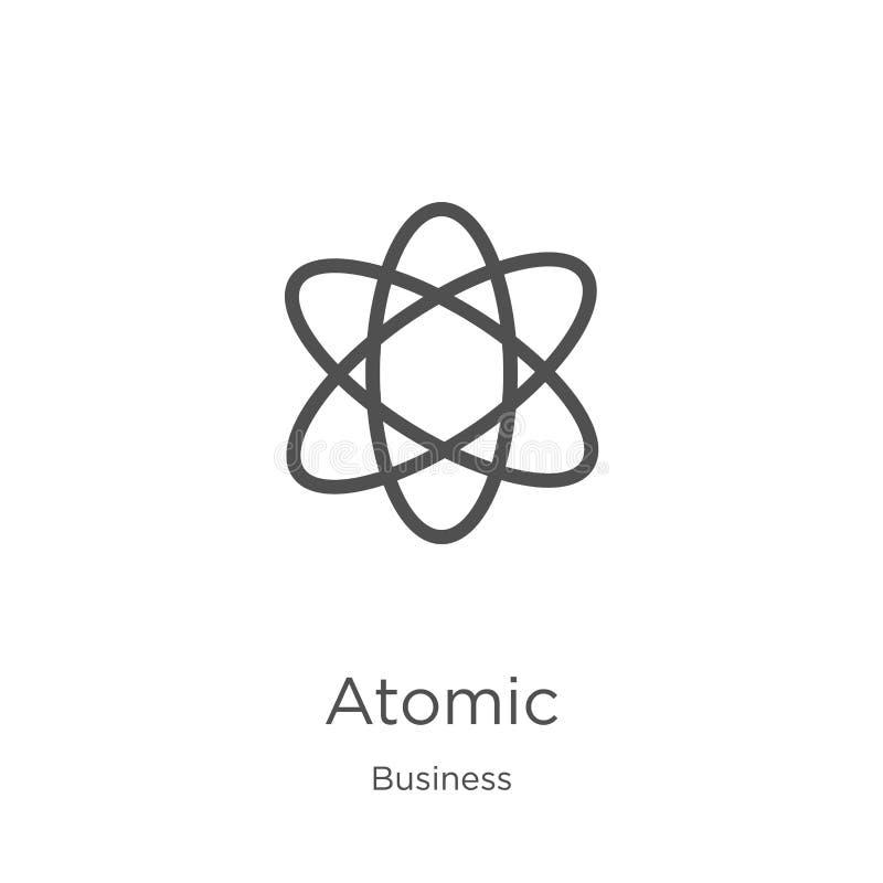 从企业汇集的原子象传染媒介 稀薄的线原子概述象传染媒介例证 概述,稀薄的线原子象为 向量例证