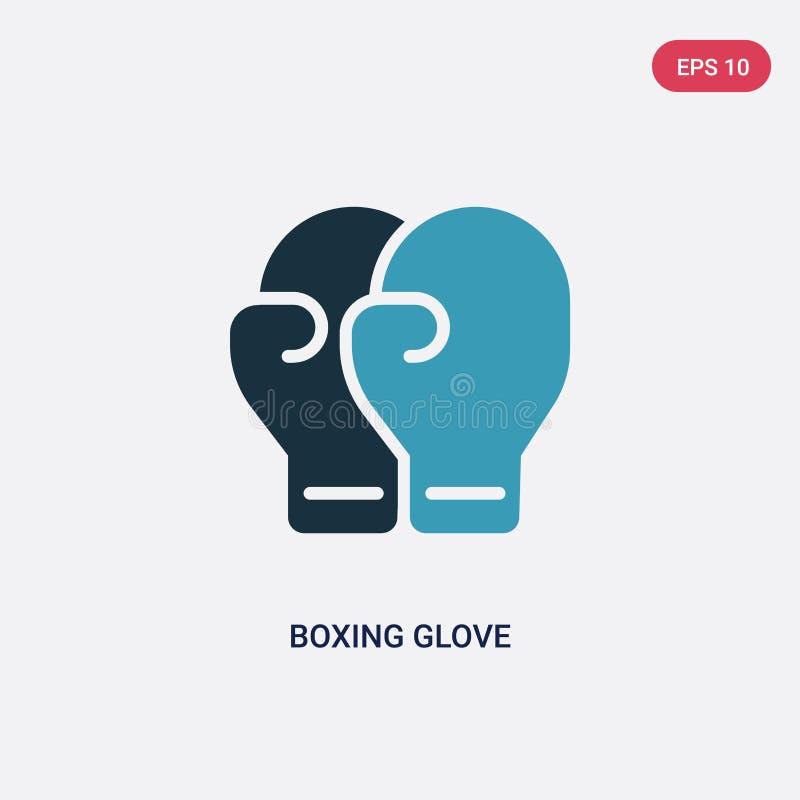 从体育概念的两种颜色的拳击手套传染媒介象 被隔绝的蓝色拳击手套传染媒介标志标志可以是网的,机动性用途 向量例证
